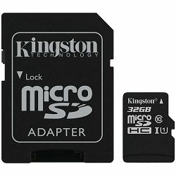 Kingston 32GB micSDHC Canvas Select Plus 100R A1 C10 Card + ADP EAN: 740617298680