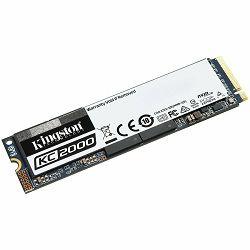 Kingston 250GB KC2000 M.2 2280 NVMe SSD up to 3,000/1,100MB/s EAN: 740617293586