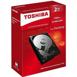 Toshiba P300 2TB, 64MB, 7200rpm, retail