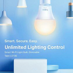 TP-Link Tapo L510E Smart Wi-Fi Light Bulb Dimmable
