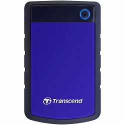Transcend 4TB StoreJet H3B USB3.0, rubber casing, military-grade shock resistance with 3-stage shock protection, Quick Reconnect Button