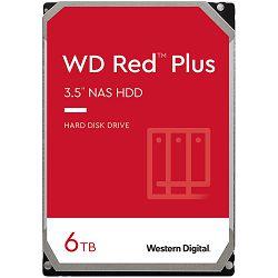 HDD NAS WD Red Plus (3.5, 6TB, 128MB, 5400 RPM, SATA 6 Gb/s)