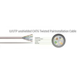 Patch kabel UTP Cat 6e, 2m, sivi