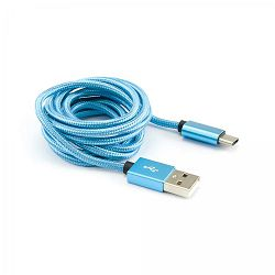 Kabel USB 2.0 - USB tip C, plavi, 3 kom
