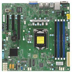 Supermicro mainboard server X11SCL-F Single Socket H4 (LGA 1151), 6 SATA3 (6Gbps) ports;  RAID 0, 1, 5, 10; 2x 1GbE LAN with Intel i210-AT; 1 PCI-E 3.0 x8 (in x16), 2 PCI-E 3.0 x4 (in x8), retail