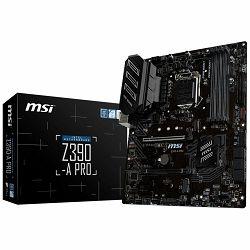 MSI Main Board Desktop Z390-A PRO LGA1151,4DDR4, 2PCI-Ex16, 4PCI-Ex1,1M.2, 6SATA3, 2USB3.1 GEN2 ,6USB3.1