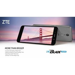 Smartphone ZTE Blade A602, DualSIM, 16GB, sivi
