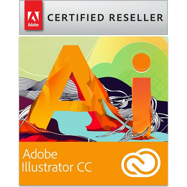 Adobe Illustrator CC Creative Cloud, WIN/MAC, 1-godišnja pretplata
