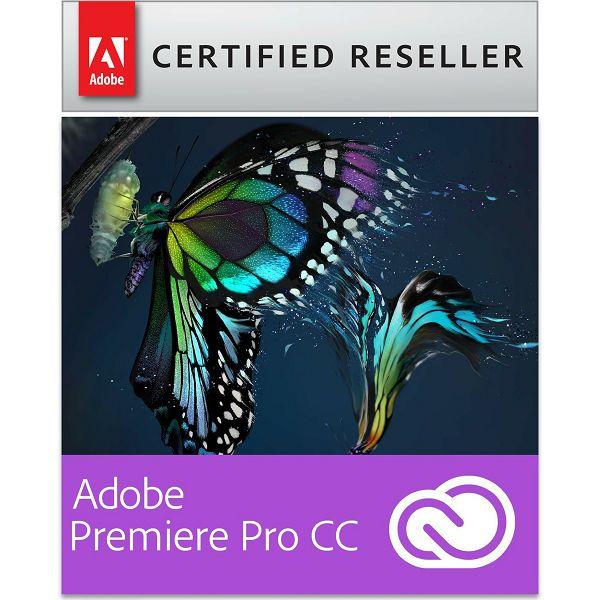 Adobe Premiere Pro CC Creative Cloud, WIN/MAC, 1-godišnja pretplata