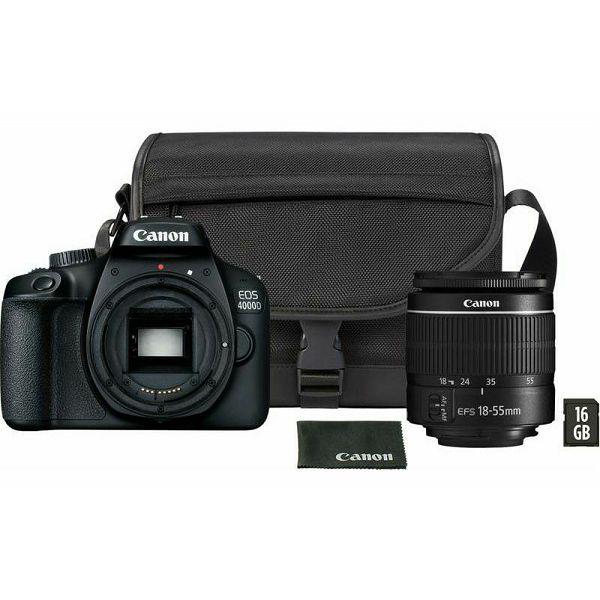 Canon EOS 4000D + 18-55mm DC III, KIT 16GB SD + SB130 torbica, 3011C019AA
