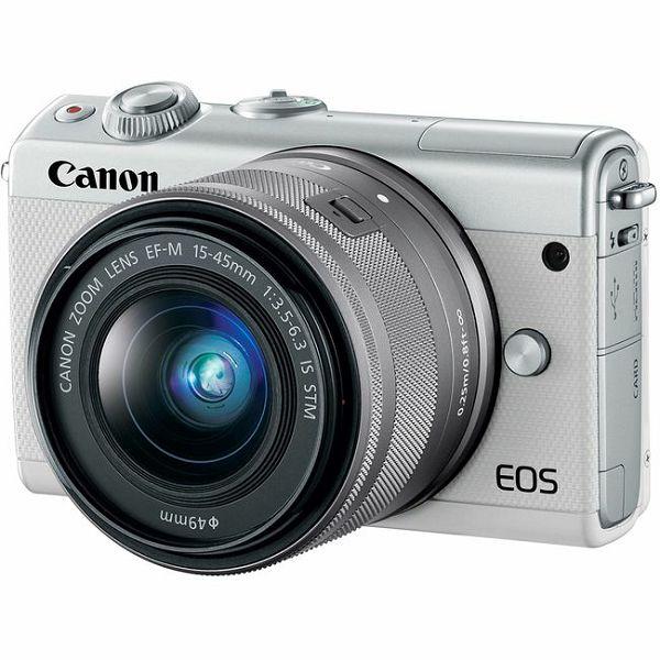 Canon EOS M100 bijeli+ EF-M 15-45mm IS STM