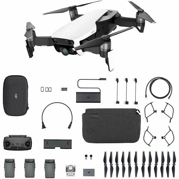 DJI Mavic Air Fly More Combo Arctic White Quadcopter dron za snimanje iz zraka s 4K UHD kamerom i 3-Axis 3D gimbal stabilizacijom CP.PT.00000168.01