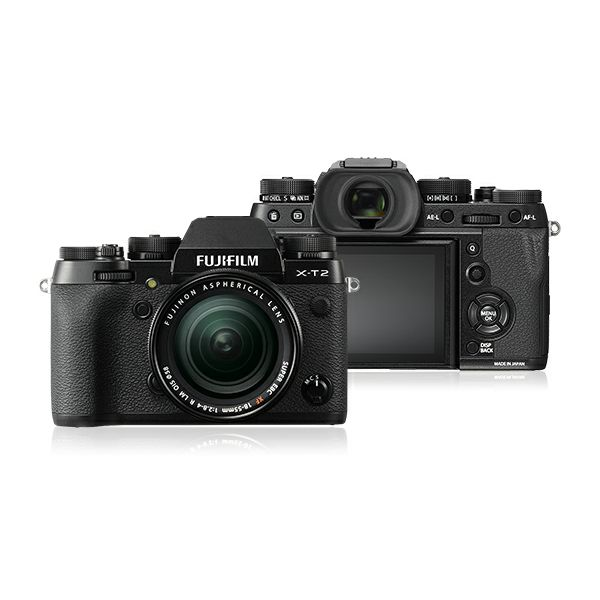 FUJI X-T2 18-55mm BLACK Kit Body + lens, 24MP X-Trans CMOS III, 3,0