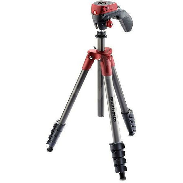 Manfrotto Compact Action stativ sa glavom (Crveni), MKCOMPACTACN-RD