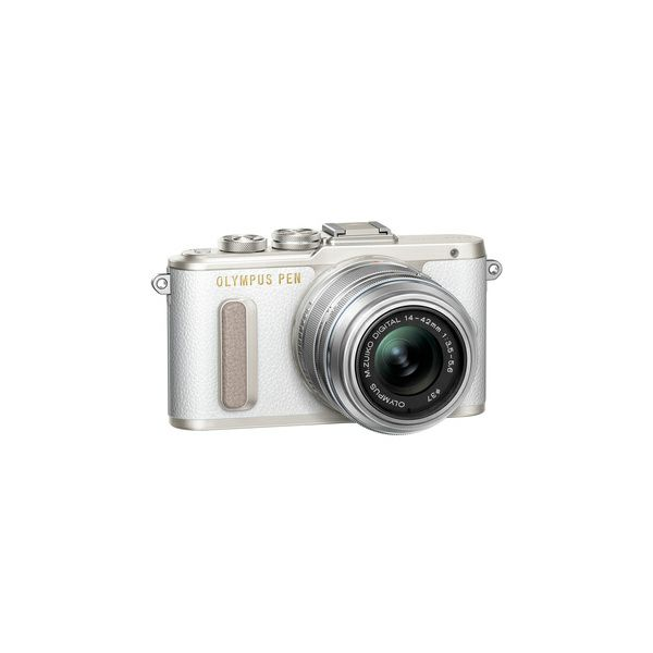 OLYMPUS E-PL8 1442IIR Kit wht/slv (E-PL8 white + EZ-M14-42IIR silver - incl. Charger & Battery)