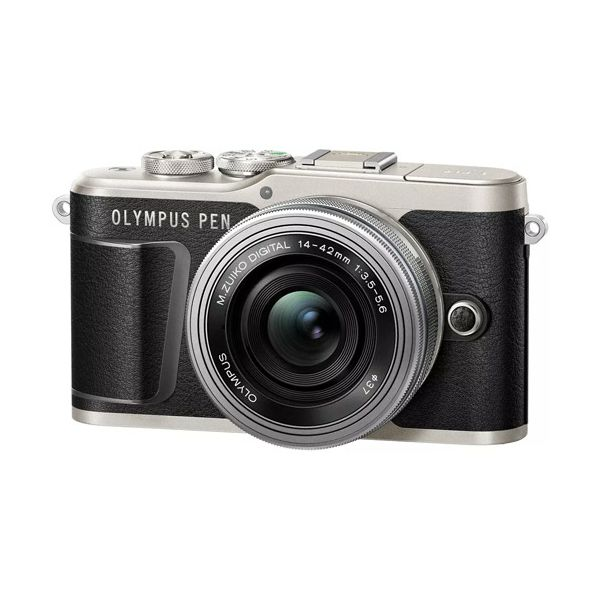 OLYMPUS E-PL9 Pancake Zoom Kit blk/slv (E-PL9 black + EZ-M1442EZ silver - incl. Charger & Battery), V205092BE000
