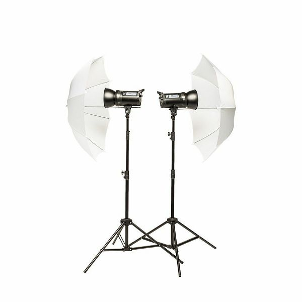 Quantuum Up! 400 Kit 2x200WS komplet studijska rasvjeta + 2x stativ 200cm + 2x difuzni kišobran